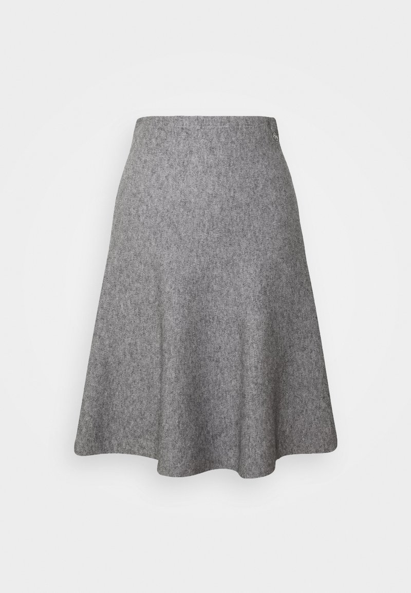TOM TAILOR DENIM - SKATER SKIRT - Mini skirt - light silver grey mélange