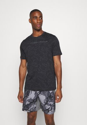 ALL OVER WORDMARK - T-shirt imprimé - black/jet gray