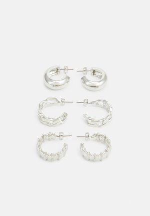PCMISTATA 3 PACK - Earrings - silver-coloured