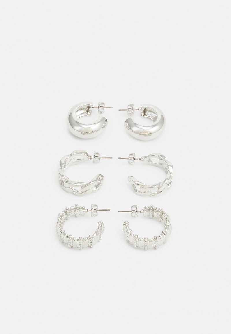 Pieces - PCMISTATA 3 PACK - Earrings - silver-coloured