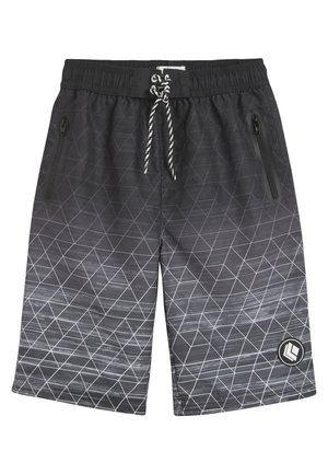 BLACK GEO SWIM BOARD SHORTS (3-16YRS) - Swimming shorts - black
