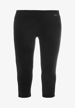 ONPFOLD JAZZ KNICKERS FIT CURVY - Leggings - black