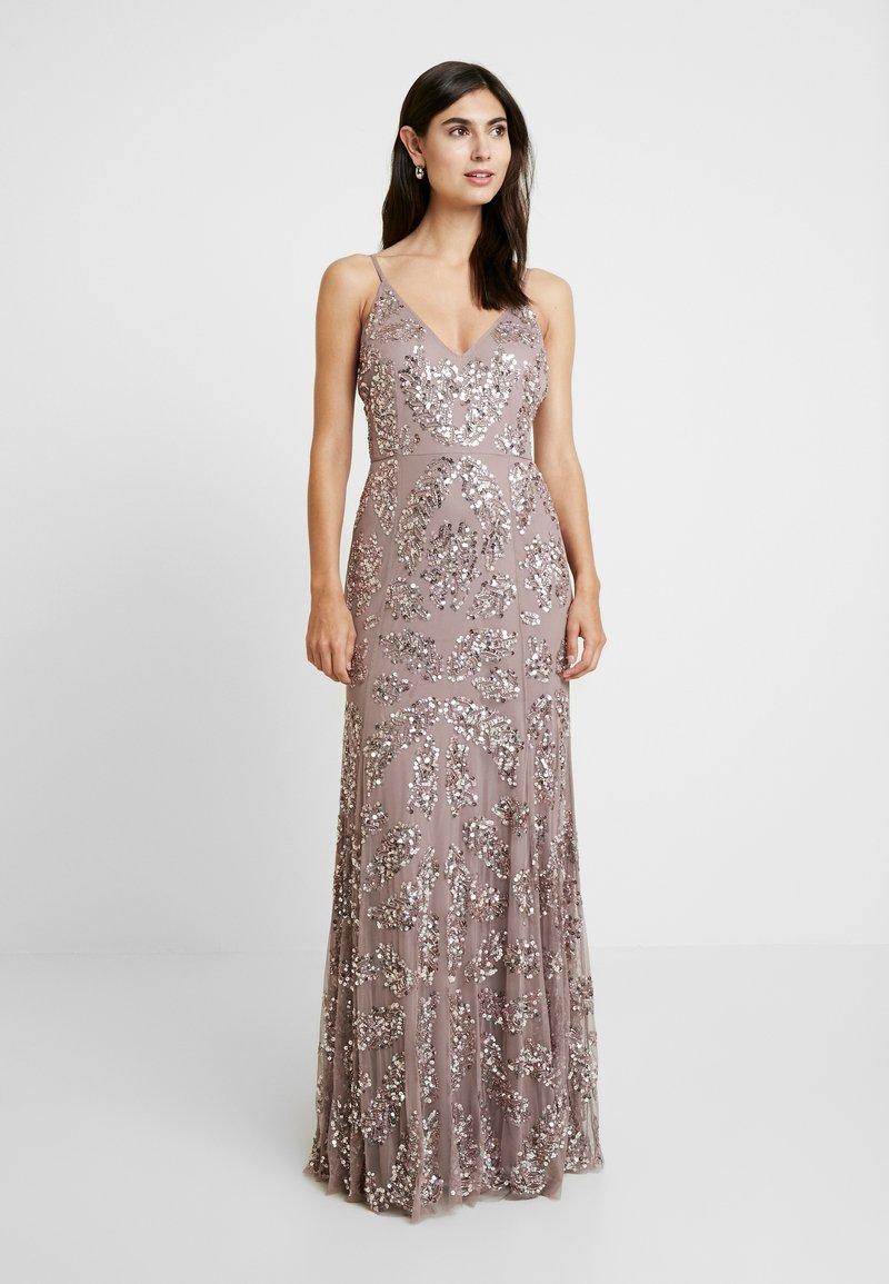 Maya Deluxe - EMBELLISHED CAMI MAXI DRESS - Suknia balowa - dusty purple