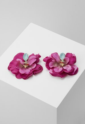 Earrings - fuchsia