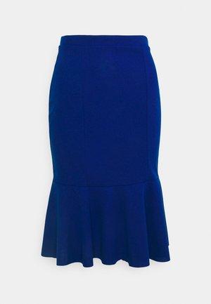 MORGAN FRILL - Bleistiftrock - electric blue