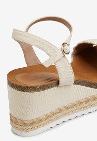 Next - Platform sandals - off-white - 3