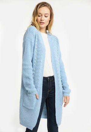 Cardigan - light blue melange
