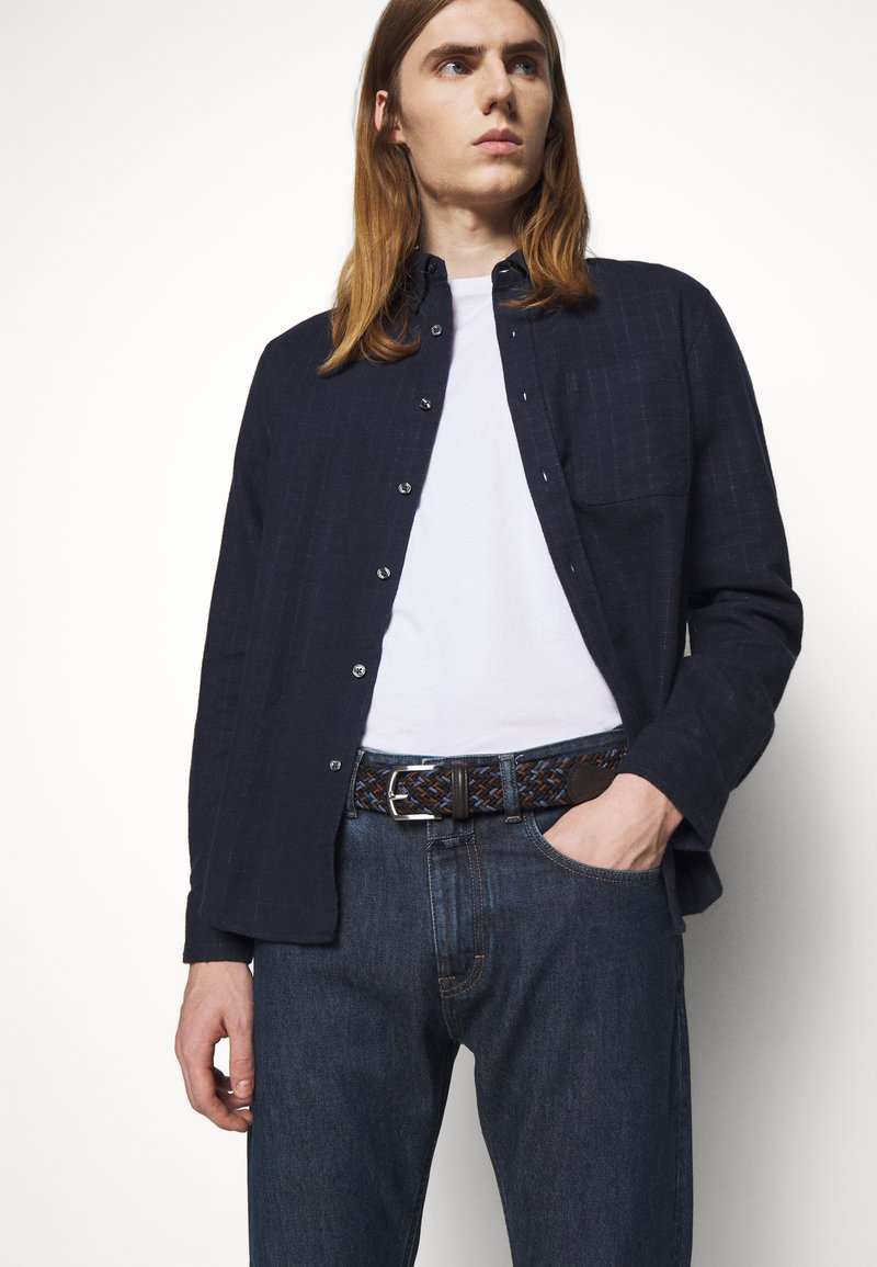 Anderson's - STRECH BELT UNISEX - Pletený pásek - blue/brown