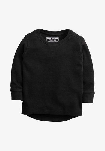 TEXTURED - Top sdlouhým rukávem - black