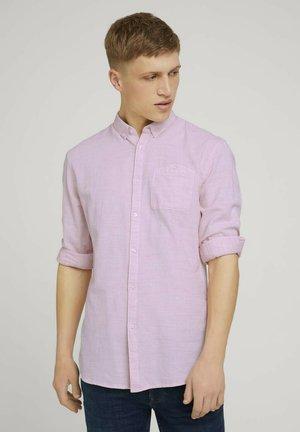Skjorta - rost orange twisted yarn dobby