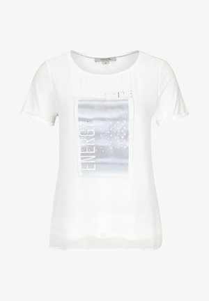 Print T-shirt - white placed print