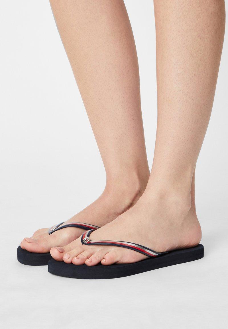 Tommy Hilfiger - GLOSSY BEACH  - T-bar sandals - desert sky