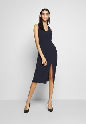 ROUND NECK PLAIN DRESS - Etuikjole - navy