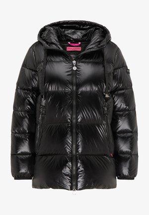 DAUNENJACKE JAVA MIT GLÄNZENDEM OBERSTOFF - Down coat - black