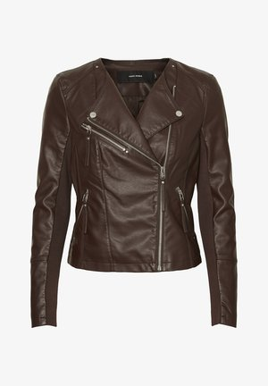 VMRIAFAVO - Faux leather jacket - chocolate plum