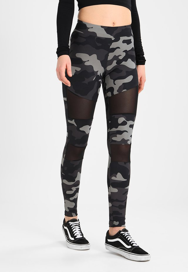 LADIES CAMO TECH - Leggings - Trousers - grey