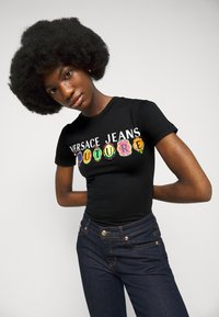 Versace Jeans Couture - TEE - Print T-shirt - black - 3