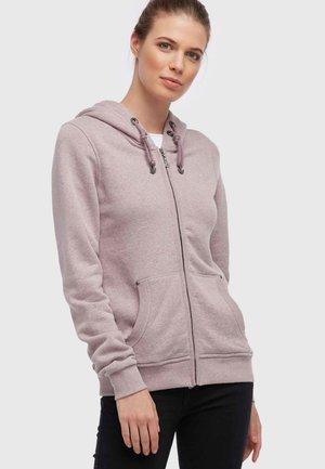 Zip-up hoodie - dark grey melange
