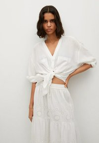 Mango - A-line skirt - hvit - 3