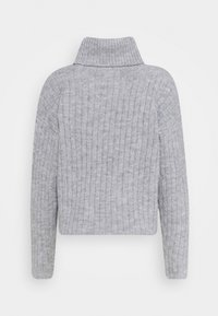 Even&Odd - RIBBED BOXY TURTLE NECK - Jersey de punto - light grey - 1