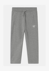 Hummel - UNO UNISEX - Tracksuit bottoms - mottled grey - 0
