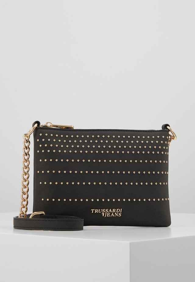 ANITA STRIPES STUDS - Clutch - black