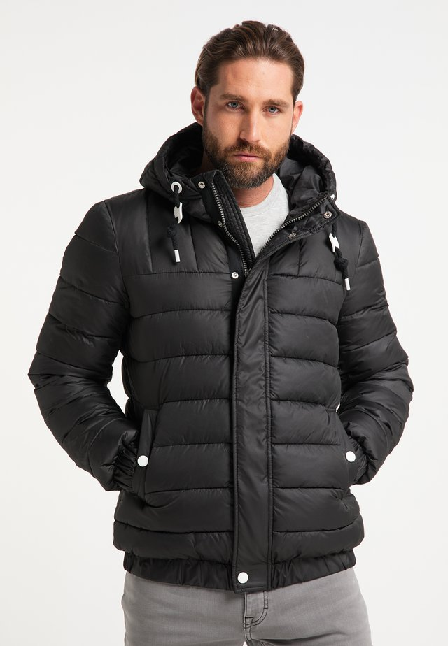 GESTEPPTE - Winter jacket - schwarz