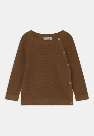NBMTIFUL  - Cardigan - coffee liqueúr