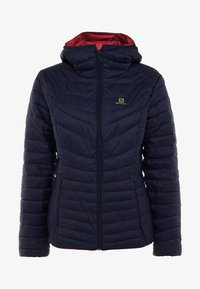 Salomon - DRIFTER HOODIE - Outdoor jacket - garnet rose/night - 4