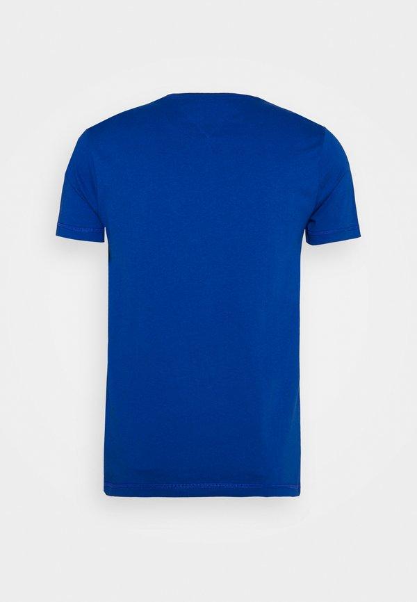 Tommy Jeans CHEST LOGO TEE - T-shirt z nadrukiem - blue/niebieski Odzież Męska JBCI