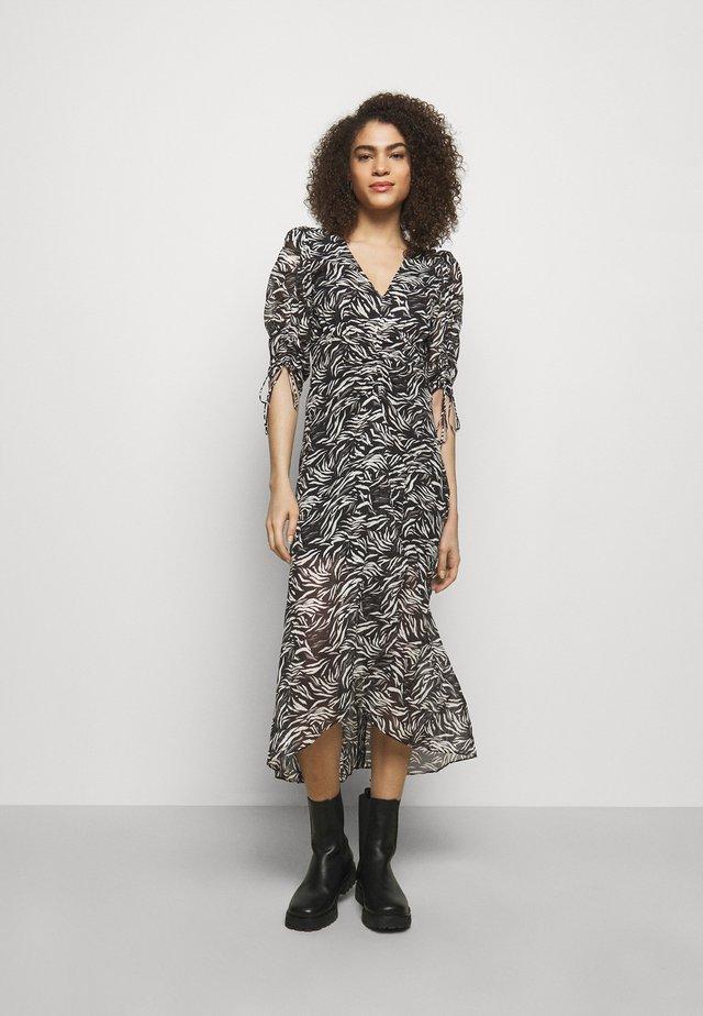 DRESS - Korte jurk - black/white