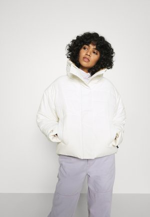 FUNNEL NECK PUFFER JACKET - Winter jacket - vintage white