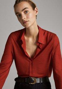 Massimo Dutti - Button-down blouse - red - 0