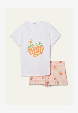 """PEACHY"" PRINT - Pigiama -  bianco st.peachy"