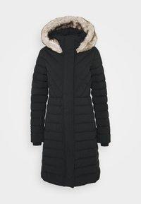 LONG PUFFER - Kabát zprachového peří - black