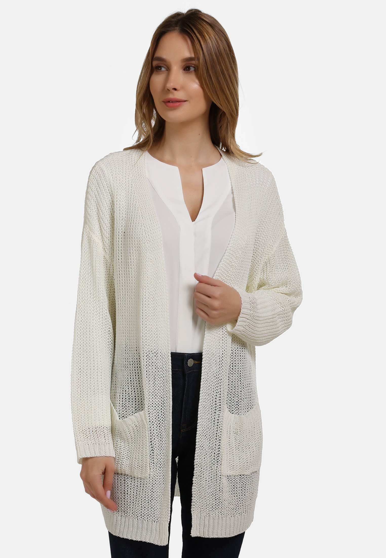 Outlet Store Women's Clothing usha Cardigan white LAxBmxgVN