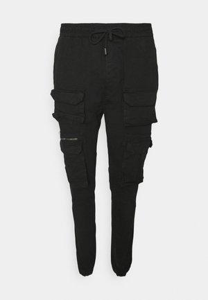 MOLTON - Cargo trousers - black