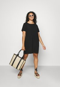 ONLY Carmakoma - CARLUXINA DRESS - Day dress - black - 1