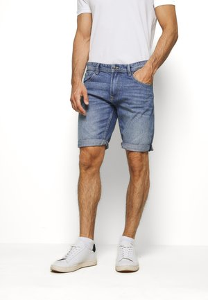 Denim shorts - mid stone wash denim          blue