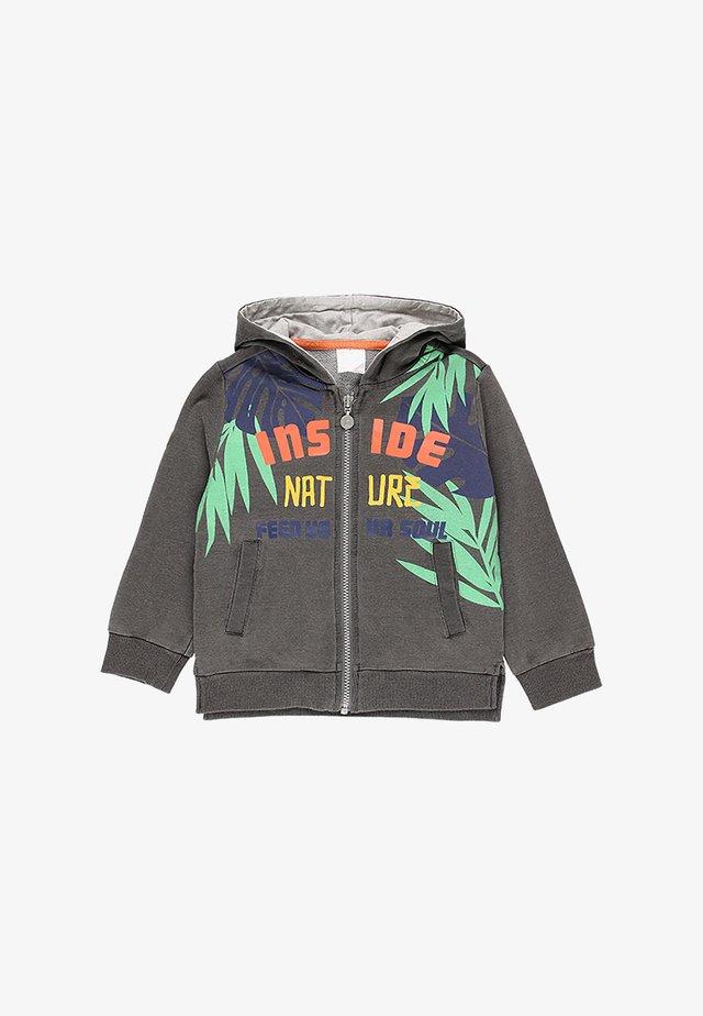 Zip-up hoodie - gret