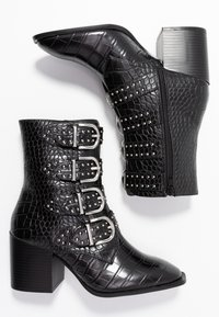 Faith - BRILLIANT - Cowboy/biker ankle boot - black - 3