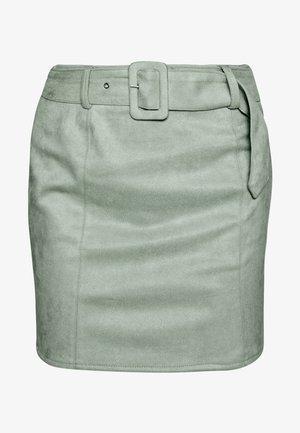 SELF BELTED MINI SKIRT - Pencil skirt - mint