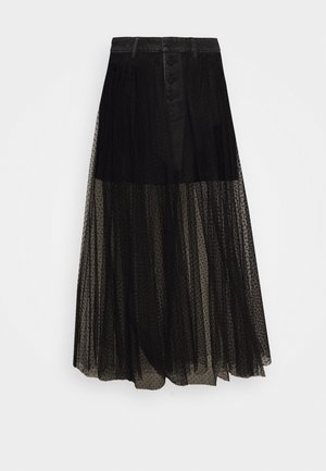 MATHEW SKIRT - Denim skirt - black