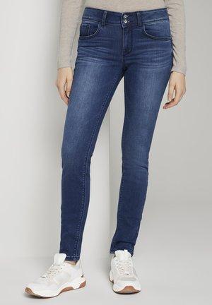 SKINNY - Slim fit jeans - dark stone wash denim