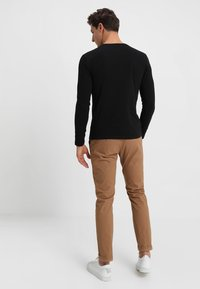 Marc O'Polo - LONG SLEEVE ROUND NECK - Pitkähihainen paita - black - 2