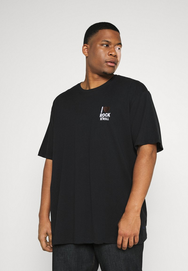Jack´s Sportswear - CHEST EMBROIDERY TEE - Print T-shirt - black