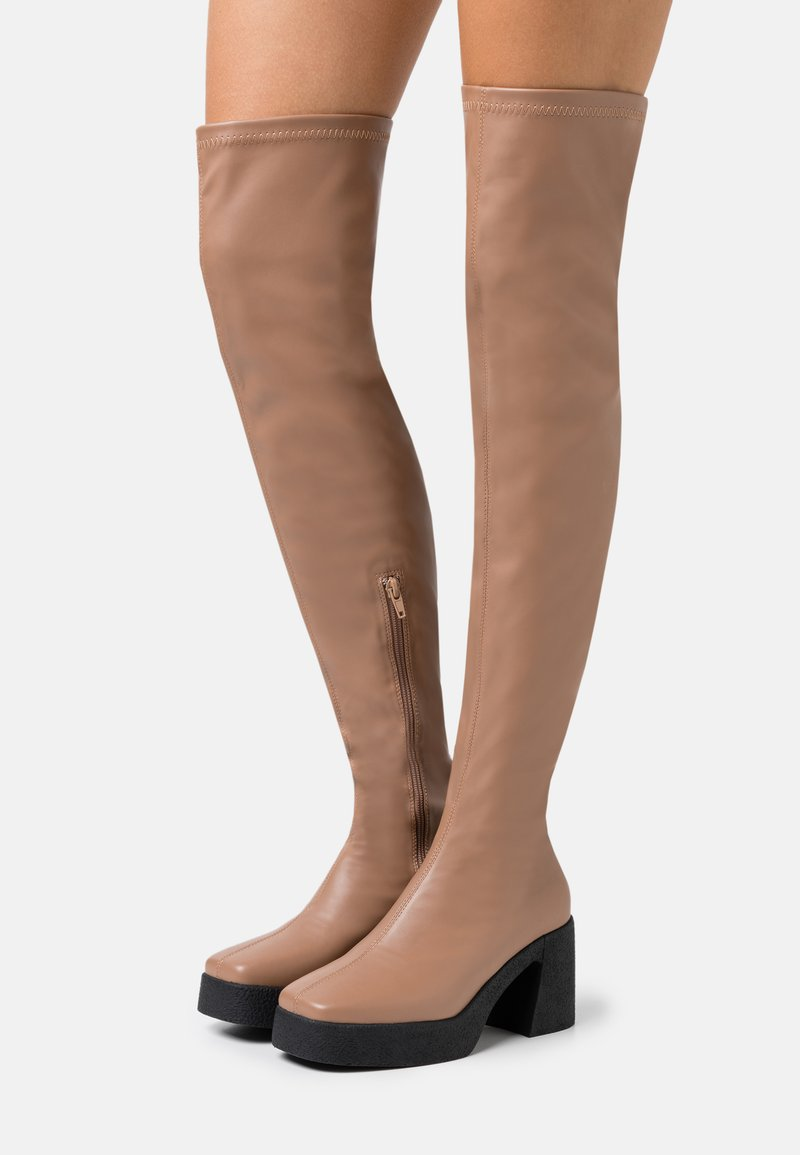 Rubi Shoes by Cotton On - ZAZA PLATFORM BOOT - Ylipolvensaappaat - tan smooth