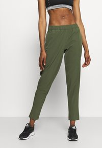 adidas Performance - TRAIN PANT - Tracksuit bottoms - olive - 0