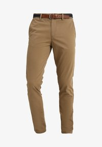 Selected Homme - SLHSLIM JAMERSON PANTS - Chinot - dark camel - 4