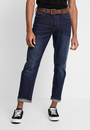 BELTED - Straight leg jeans - mid blue